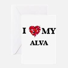 I love my Alva Greeting Cards