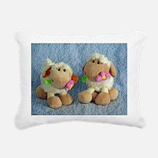 Little Lambs Rectangular Canvas Pillow