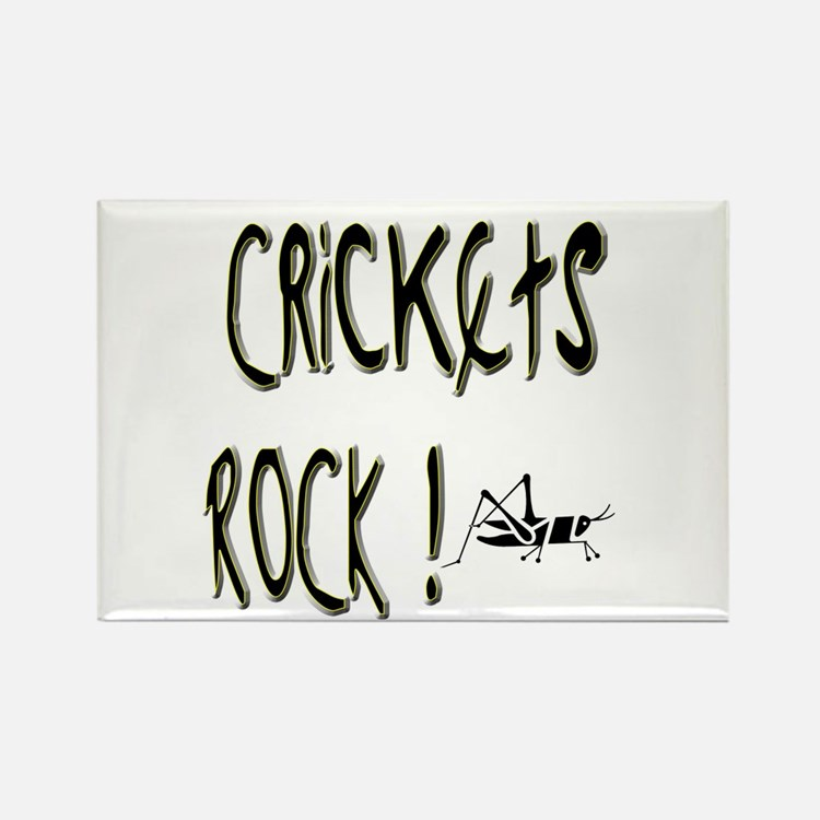 Crickets Rock ! Rectangle Magnet