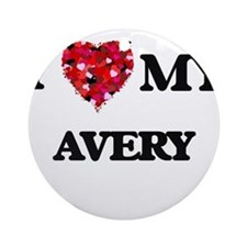I love my Avery Ornament (Round)