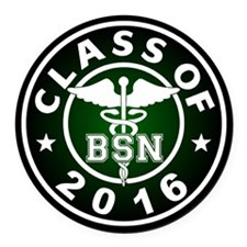 Class Of 2016 Bsn Round Car Magnet