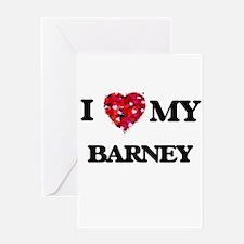 I love my Barney Greeting Cards