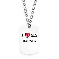 I love my Barney Dog Tags