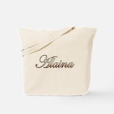 Gold Alaina Tote Bag