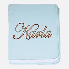 Gold Karla baby blanket