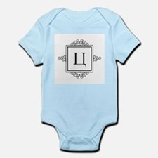 Russian Tseh letter Ts Monogram Body Suit