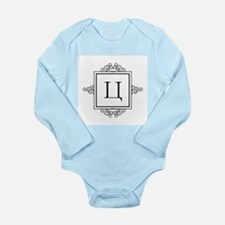 Russian Tseh letter Ts Monogram Body Suit