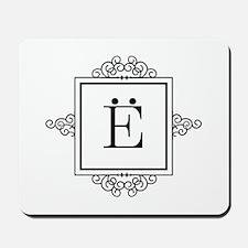 Russian Yo letter Y Monogram Mousepad