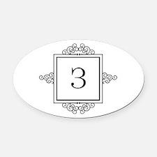 Russian Zeh letter Z Monogram Oval Car Magnet