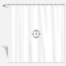 Russian Zeh letter Z Monogram Shower Curtain