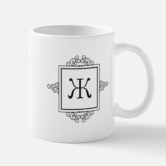 Russian Zheh letter Zh Monogram Mugs