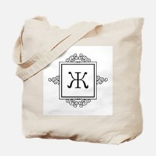 Russian Zheh letter Zh Monogram Tote Bag