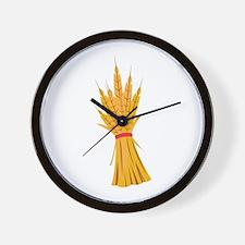 Wheat Bundle Wall Clock