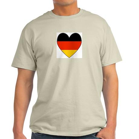 German Flag Heart Ash Grey T-Shirt