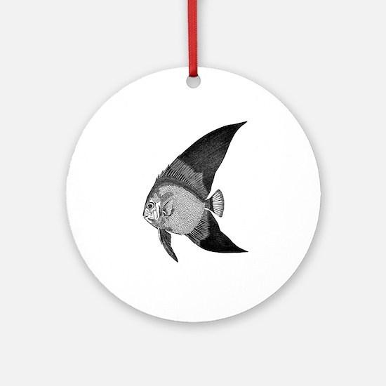 Vintage Angel Fish illustration Ornament (Round)