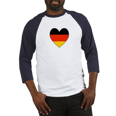 German Flag Heart Baseball Jersey
