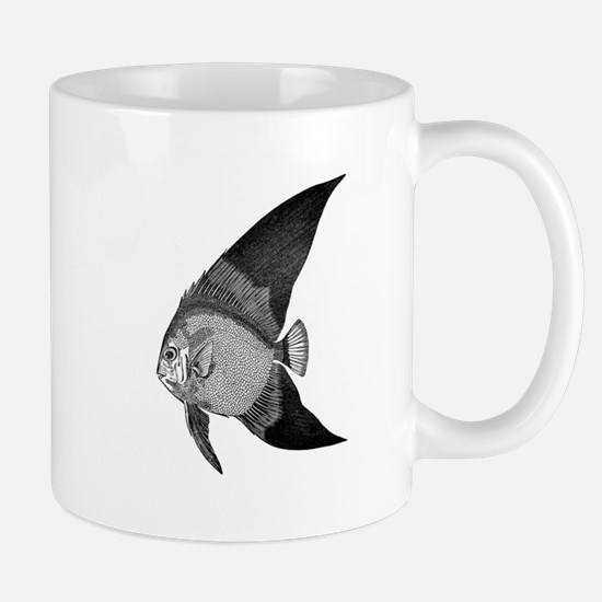 Vintage Angel Fish illustration Mugs