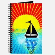 sky on fire sailboat Journal