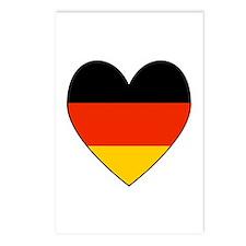German Flag Heart Postcards (Package of 8)