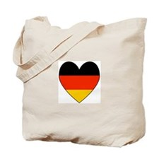 German Flag Heart Tote Bag