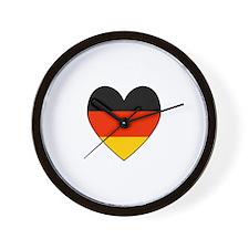 German Flag Heart Wall Clock