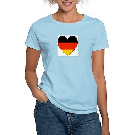 German Flag Heart Women's Pink T-Shirt
