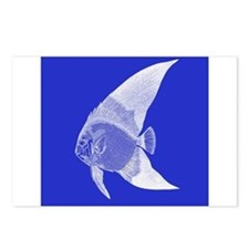 Dark Blue Tropical Fish Postcards (Package of 8)