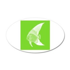 Lime Green Tropical Fish Wall Sticker