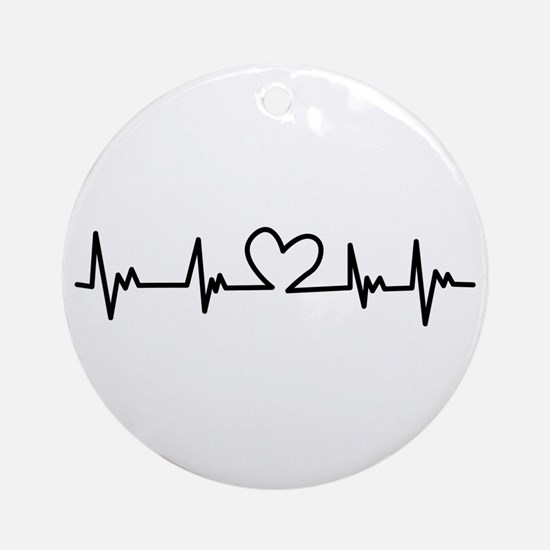 Heart Beat Ornament (Round)