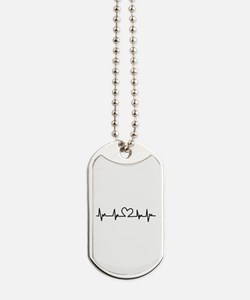 Heart Beat Dog Tags