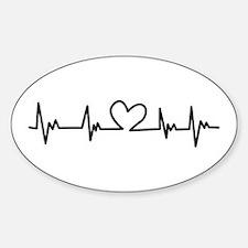 Heart Beat Bumper Stickers