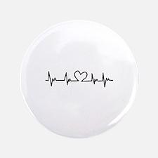 """Heart Beat 3.5"""" Button (100 pack)"""