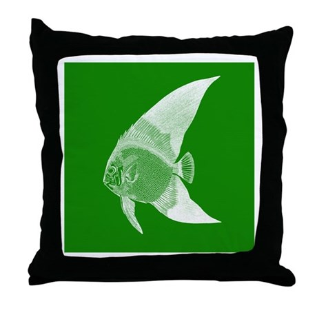 dark green tropical fish throw pillow by admin cp49789583. Black Bedroom Furniture Sets. Home Design Ideas