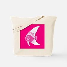 Hot Pink Tropical Fish Tote Bag