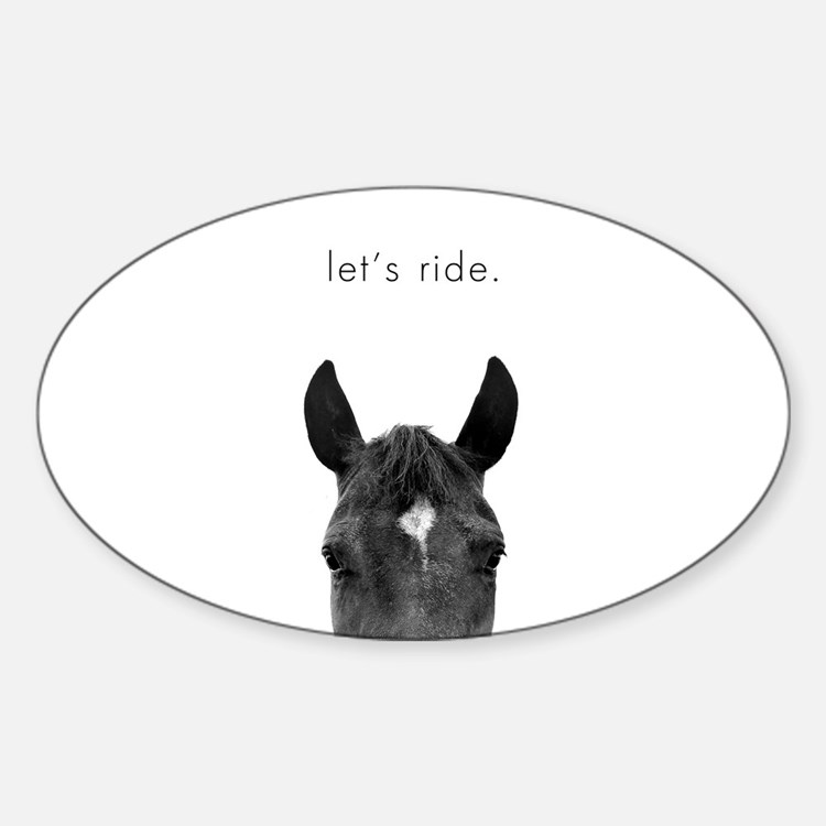 Cute Equine photography Sticker (Oval)