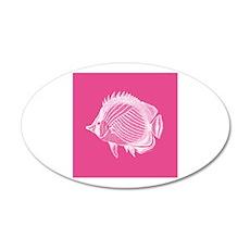 Hot Pink Exotic Fish Wall Sticker