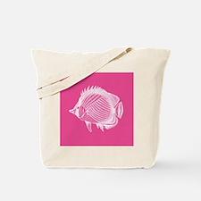 Hot Pink Exotic Fish Tote Bag