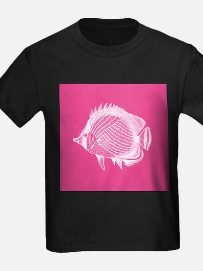 Hot Pink Exotic Fish T-Shirt