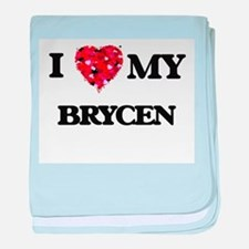 I love my Brycen baby blanket