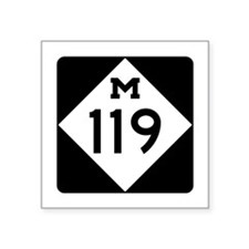 "Unique Michigan Square Sticker 3"" x 3"""