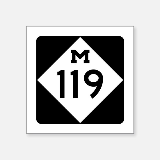"""Cute Michigan Square Sticker 3"""" x 3"""""""