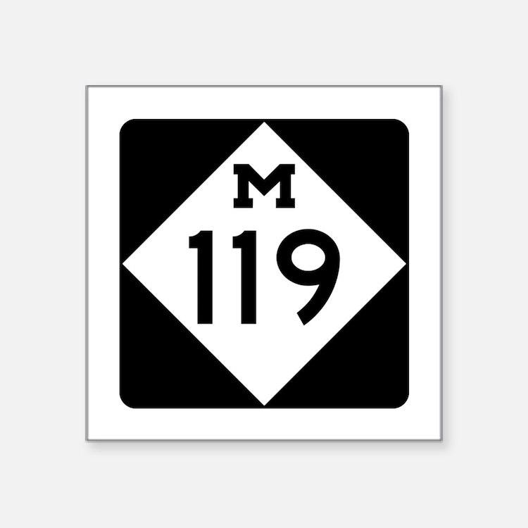 """Cute M Square Sticker 3"""" x 3"""""""