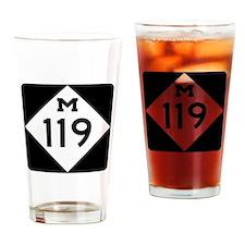 Funny Michigan Drinking Glass