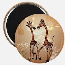 Funny cartoon giraffe Magnets