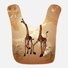 Funny cartoon giraffe Bib