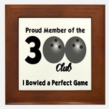 BOWLING - 300 CLUB Framed Tile