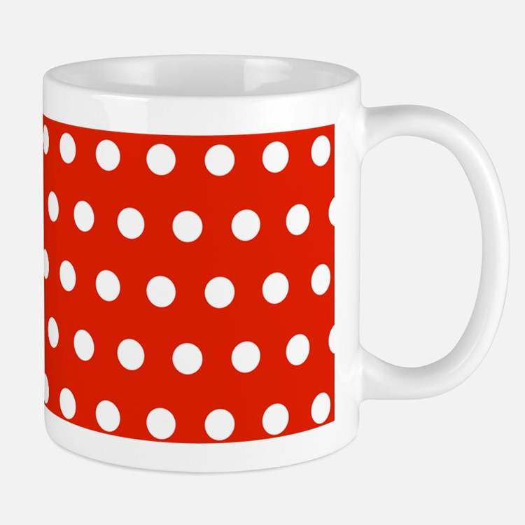 Red and White Polka Dots Mugs