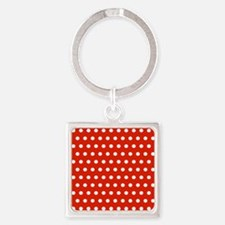 Red and White Polka Dots Keychains