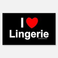 Lingerie Sticker (rectangle)