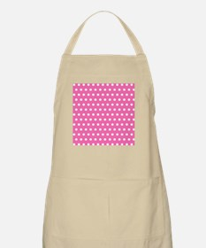 Pink And White Polka Dots Apron